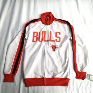 Chicago Bulls jacket zip up white red longsleeve S